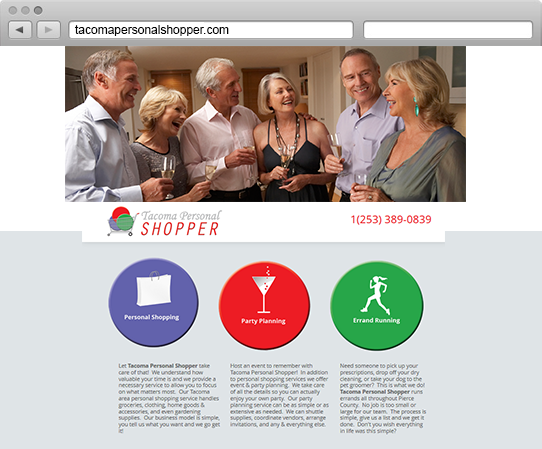 Tacoma Personal Shopper Website